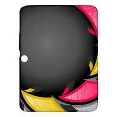 Hole Circle Line Red Yellow Black Gray Samsung Galaxy Tab 3 (10 1 ) P5200 Hardshell Case  by Mariart
