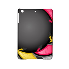 Hole Circle Line Red Yellow Black Gray Ipad Mini 2 Hardshell Cases by Mariart