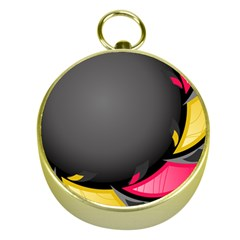 Hole Circle Line Red Yellow Black Gray Gold Compasses by Mariart