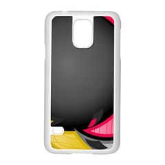 Hole Circle Line Red Yellow Black Gray Samsung Galaxy S5 Case (white) by Mariart