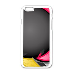 Hole Circle Line Red Yellow Black Gray Apple Iphone 6/6s White Enamel Case by Mariart