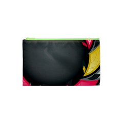 Hole Circle Line Red Yellow Black Gray Cosmetic Bag (xs) by Mariart
