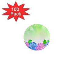 Fruit Flower Leaf 1  Mini Magnets (100 Pack)  by Mariart