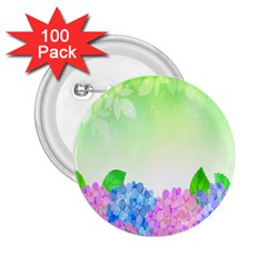 Fruit Flower Leaf 2 25  Buttons (100 Pack)  by Mariart
