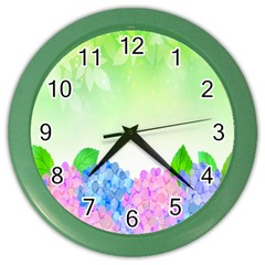 Fruit Flower Leaf Color Wall Clocks by Mariart