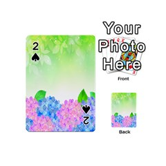 Fruit Flower Leaf Playing Cards 54 (mini)  by Mariart