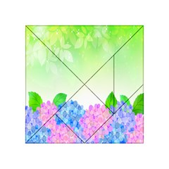 Fruit Flower Leaf Acrylic Tangram Puzzle (4  X 4 ) by Mariart