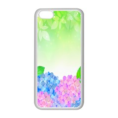 Fruit Flower Leaf Apple Iphone 5c Seamless Case (white) by Mariart