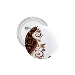 Leaf Brown Butterfly 1 75  Buttons by Mariart