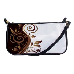 Leaf Brown Butterfly Shoulder Clutch Bags by Mariart