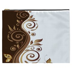 Leaf Brown Butterfly Cosmetic Bag (xxxl)  by Mariart