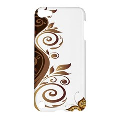 Leaf Brown Butterfly Apple Ipod Touch 5 Hardshell Case by Mariart