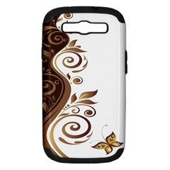 Leaf Brown Butterfly Samsung Galaxy S Iii Hardshell Case (pc+silicone) by Mariart