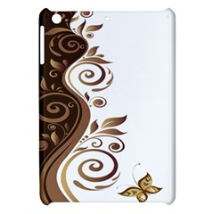 Leaf Brown Butterfly Apple Ipad Mini Hardshell Case by Mariart
