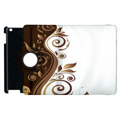 Leaf Brown Butterfly Apple Ipad 2 Flip 360 Case by Mariart