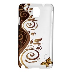 Leaf Brown Butterfly Samsung Galaxy Note 3 N9005 Hardshell Case by Mariart