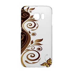 Leaf Brown Butterfly Galaxy S6 Edge by Mariart