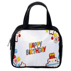 Happy Birthday Classic Handbags (one Side) by Mariart