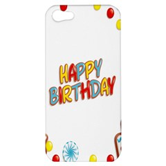 Happy Birthday Apple Iphone 5 Hardshell Case by Mariart