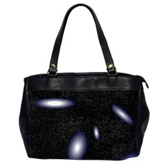 Galaxy Planet Space Star Light Polka Night Office Handbags (2 Sides)  by Mariart