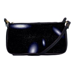 Galaxy Planet Space Star Light Polka Night Shoulder Clutch Bags by Mariart