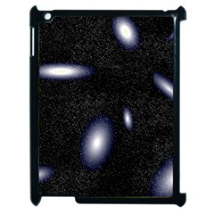 Galaxy Planet Space Star Light Polka Night Apple Ipad 2 Case (black) by Mariart