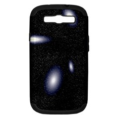 Galaxy Planet Space Star Light Polka Night Samsung Galaxy S Iii Hardshell Case (pc+silicone) by Mariart