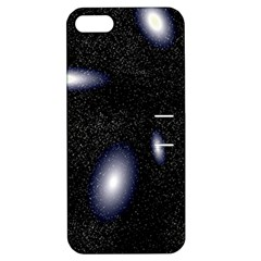 Galaxy Planet Space Star Light Polka Night Apple Iphone 5 Hardshell Case With Stand by Mariart