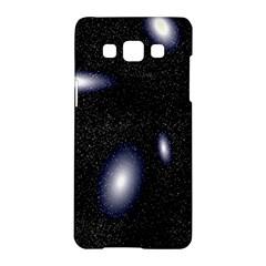 Galaxy Planet Space Star Light Polka Night Samsung Galaxy A5 Hardshell Case  by Mariart