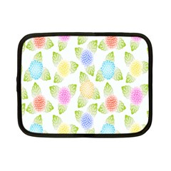 Fruit Grapes Purple Yellow Blue Pink Rainbow Leaf Green Netbook Case (small)  by Mariart