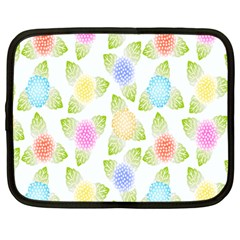 Fruit Grapes Purple Yellow Blue Pink Rainbow Leaf Green Netbook Case (large) by Mariart