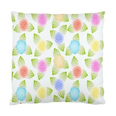 Fruit Grapes Purple Yellow Blue Pink Rainbow Leaf Green Standard Cushion Case (one Side) by Mariart