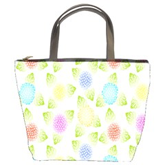 Fruit Grapes Purple Yellow Blue Pink Rainbow Leaf Green Bucket Bags by Mariart