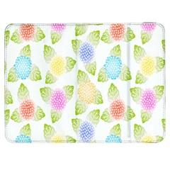 Fruit Grapes Purple Yellow Blue Pink Rainbow Leaf Green Samsung Galaxy Tab 7  P1000 Flip Case by Mariart