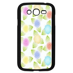 Fruit Grapes Purple Yellow Blue Pink Rainbow Leaf Green Samsung Galaxy Grand Duos I9082 Case (black) by Mariart