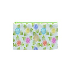 Fruit Grapes Purple Yellow Blue Pink Rainbow Leaf Green Cosmetic Bag (xs) by Mariart