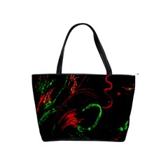 Paint Black Red Green Shoulder Handbags by Mariart