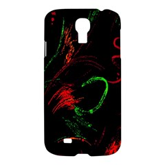 Paint Black Red Green Samsung Galaxy S4 I9500/i9505 Hardshell Case by Mariart