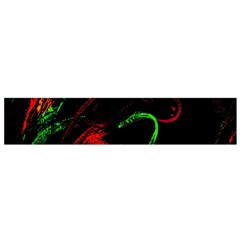 Paint Black Red Green Flano Scarf (small) by Mariart