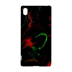 Paint Black Red Green Sony Xperia Z3+ by Mariart