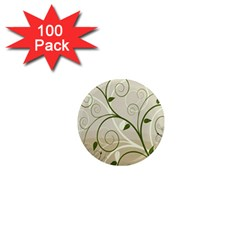 Leaf Sexy Green Gray 1  Mini Magnets (100 Pack)  by Mariart