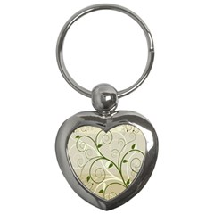 Leaf Sexy Green Gray Key Chains (heart)  by Mariart