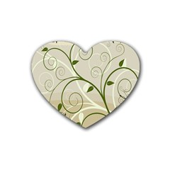 Leaf Sexy Green Gray Heart Coaster (4 Pack)  by Mariart