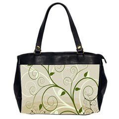 Leaf Sexy Green Gray Office Handbags (2 Sides)  by Mariart