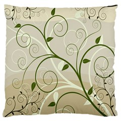 Leaf Sexy Green Gray Large Flano Cushion Case (one Side) by Mariart