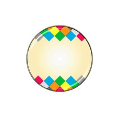 Plaid Wave Chevron Rainbow Color Hat Clip Ball Marker (4 Pack) by Mariart