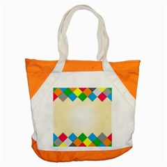 Plaid Wave Chevron Rainbow Color Accent Tote Bag by Mariart