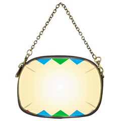 Plaid Wave Chevron Rainbow Color Chain Purses (one Side)  by Mariart