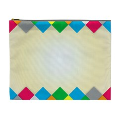 Plaid Wave Chevron Rainbow Color Cosmetic Bag (xl) by Mariart