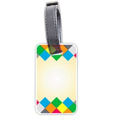 Plaid Wave Chevron Rainbow Color Luggage Tags (two Sides) by Mariart
